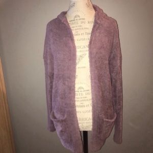 Mossimo Supply Co. Sweaters - Violet Hooded Fuzzy Sweater Size Small